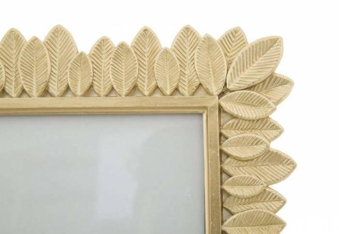 Ramă foto Leaves, 30.2x28x1.8 cm, rasina, auriu