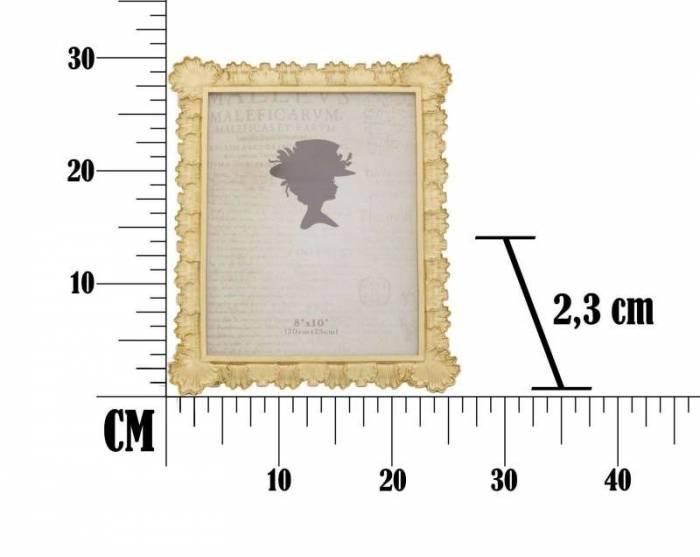 Ramă foto Loff, 31.5x26.8x2.3 cm, rasina, auriu