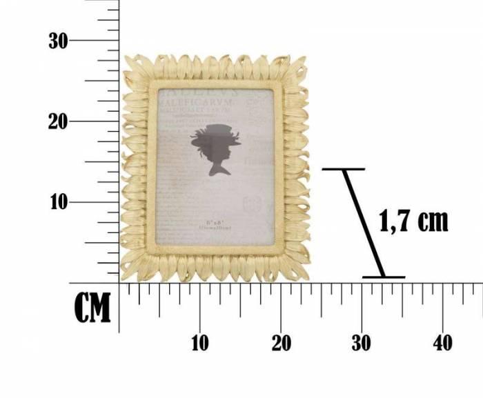Ramă foto Petal, 28x23x1.7 cm, rasina, auriu