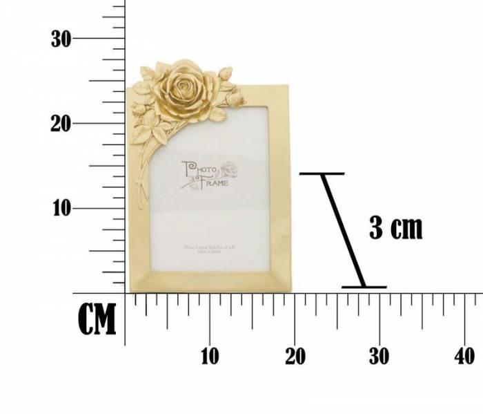 Ramă foto Rose, 27.5x19.4x3 cm, rasina, auriu