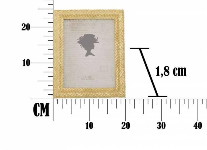 Ramă foto Stick , 25x20x1.8 cm, rasina, auriu