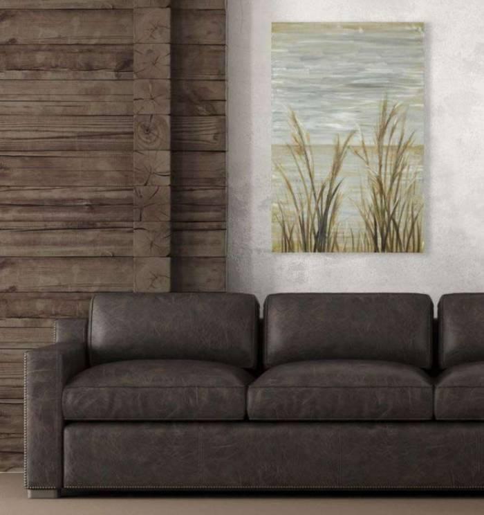 Tablou Sea, 90x60x3.7 cm, lemn de pin/ canvas/ metal, multicolor