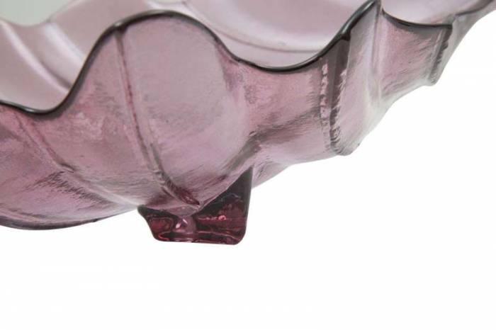 Tavă Leaf, 13x46x24 cm, sticla, roz