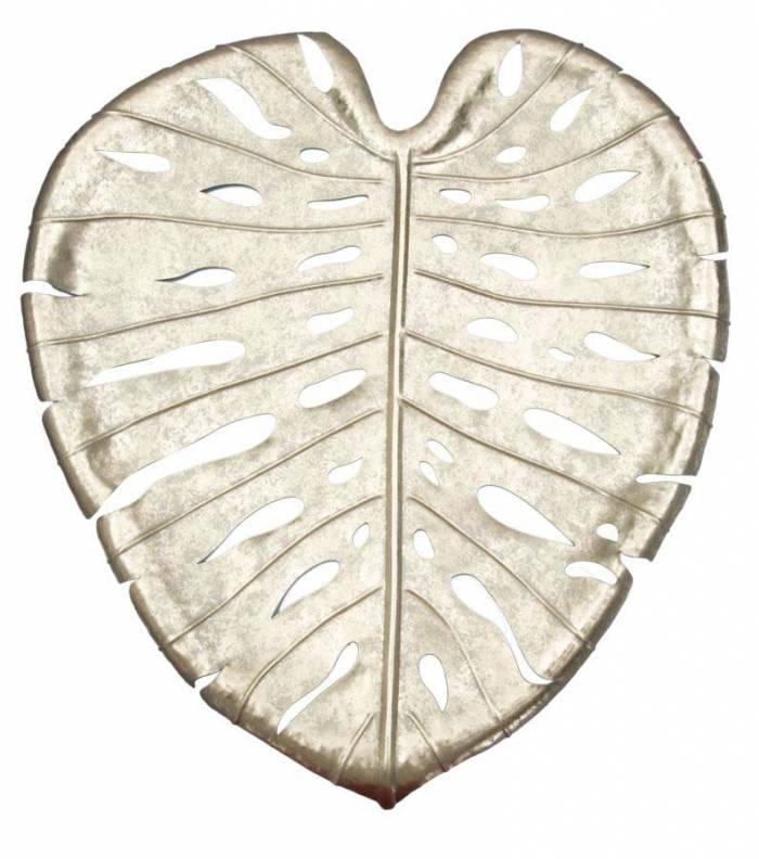 Tavă Leaf, 3x42,5x47,5 cm, metal, auriu
