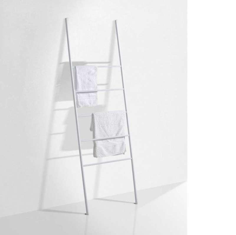 Suport de prosoape UP, 160x2x50 cm, metal, alb poza