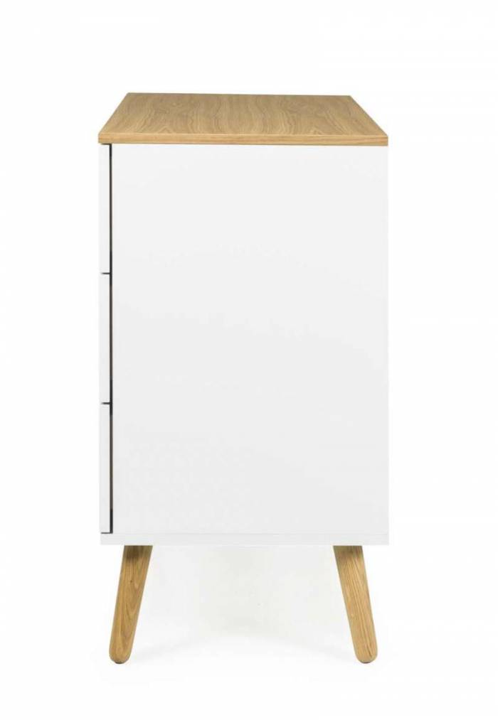 Comodă CASPER , 79x43x90 cm, lemn/ mdf, alb