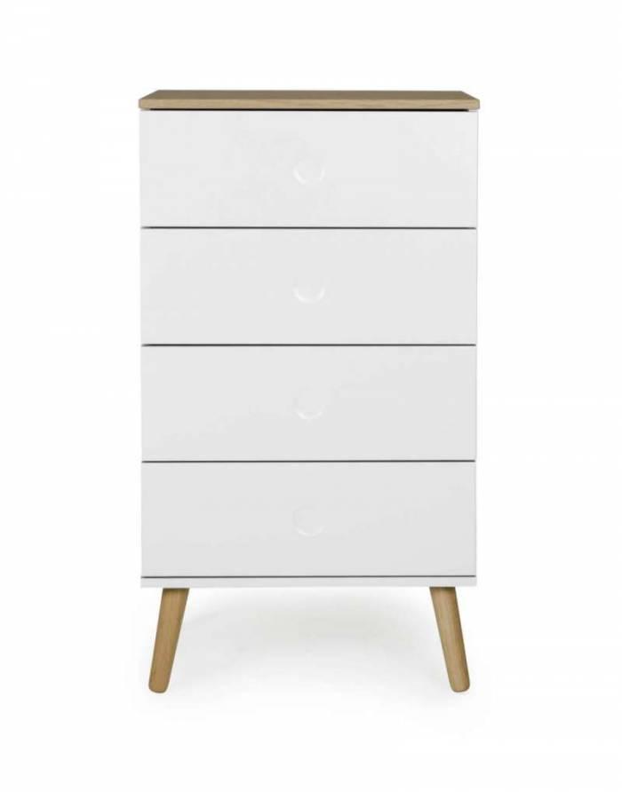Comodă CASPER , 98x43x55 cm, lemn/ mdf, alb