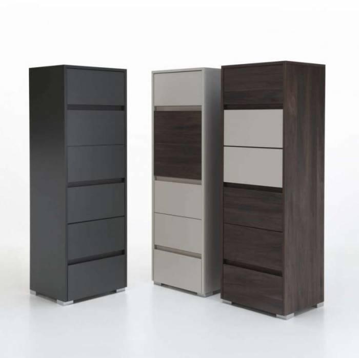 Comodă cu șase sertare Gipsy, 152x42x50 cm, melamină, maro