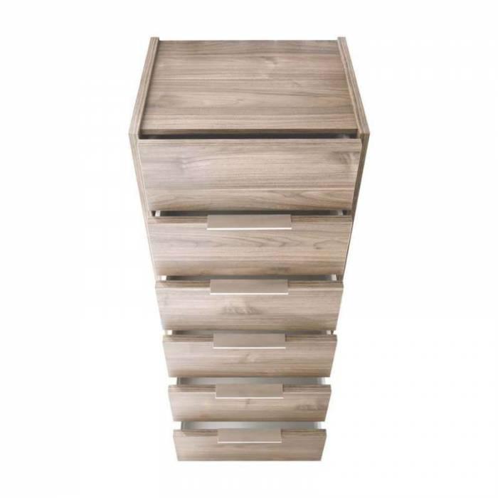 Comodă înaltă Durban, 121x40x51 cm, lemn, maro