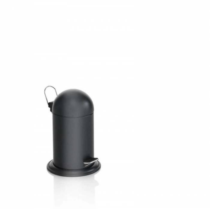 Coș cu pedală Kenta, 34x23x23 cm, metal, negru