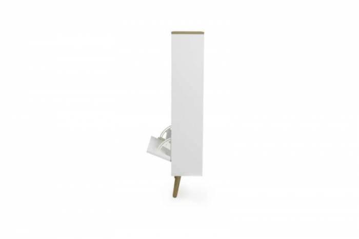 Pantofar Casper, 98x43x55 cm, lemn/ mdf, alb