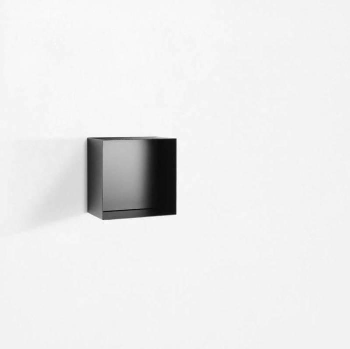 Raft de perete Riino 1, 28x18x28 cm, metal, negru