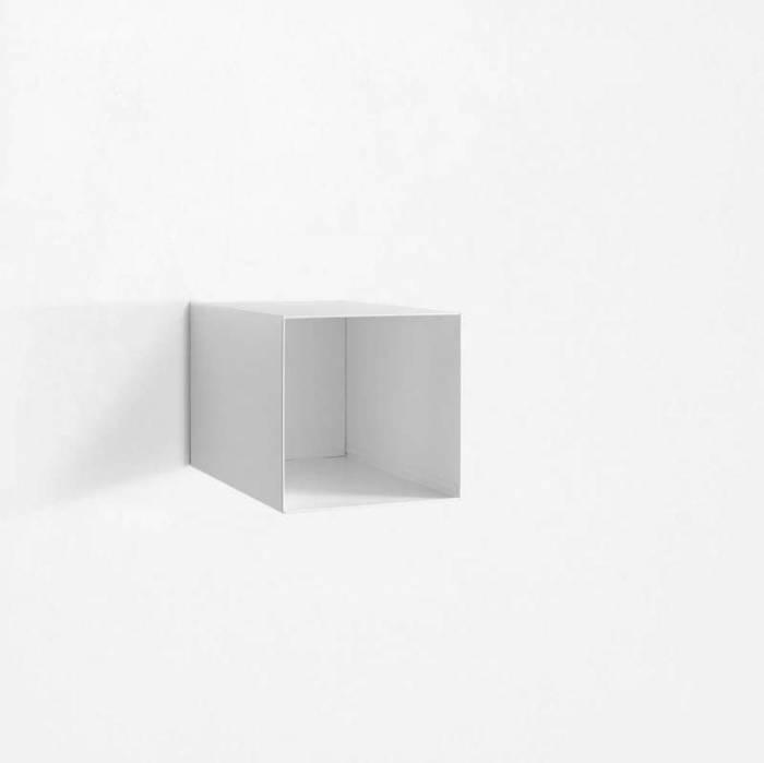 Raft de perete Riino 2, 28x45x28 cm, metal, alb