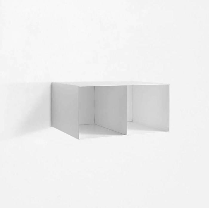 Raft de perete Riino 4, 28x45x55 cm, metal, alb
