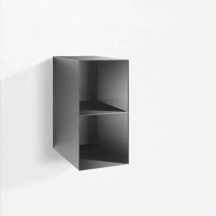 Raft de perete Riino 4, 28x45x55 cm, metal, negru