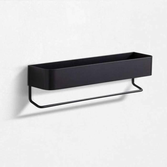 Raft Nina, 10x8x35 cm, metal, negru