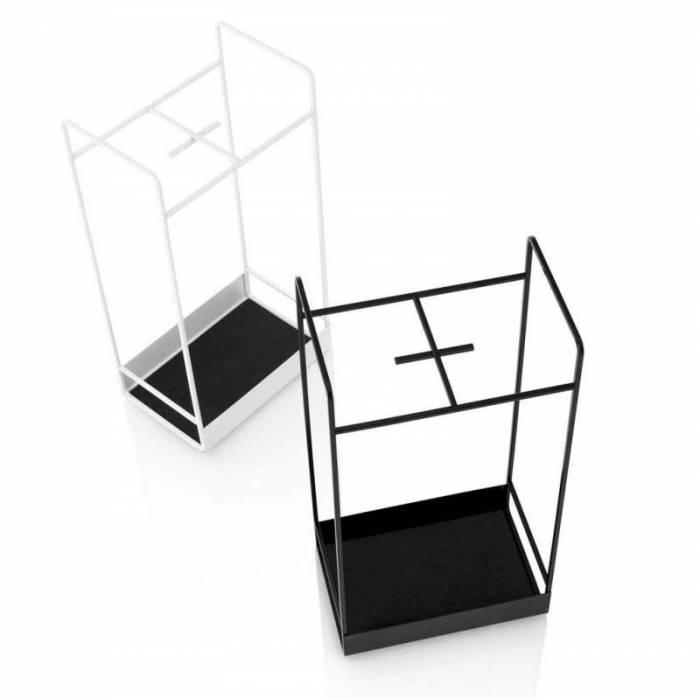 Raft pentru ușă Kanji, 50x17x26 cm, metal, alb