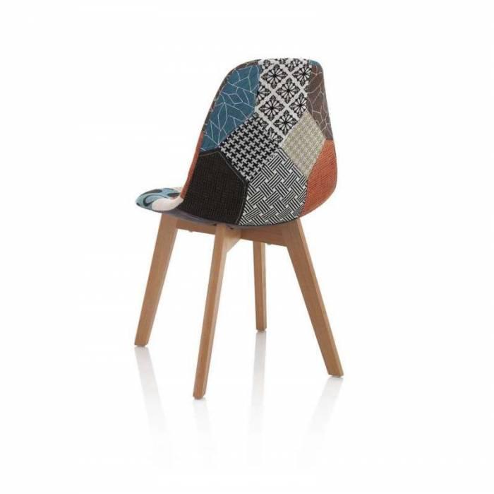 Set 4 scaune Karima, 83x43x48 cm, lemn/ textil, multicolor