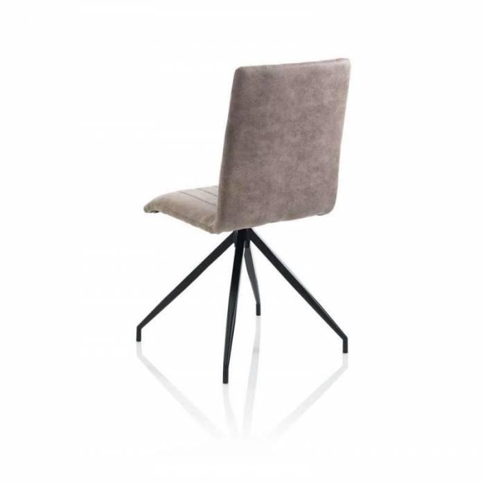 Set 2 scaune Kira, 91x50x44 cm, metal/ ecopiele, ecru