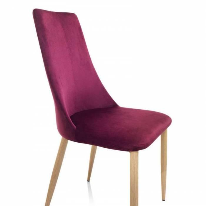 Set 4 scaune Lamont, 95x47x45 cm, lemn/ textil, roșu