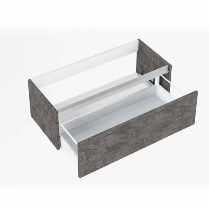 Set de baie Perth ossido, 190x47x101 cm, melamină/ aluminiu/ abs/ sticlă/ ceramică/ metal