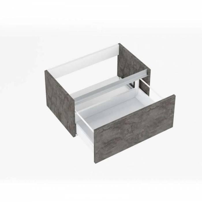 Set de baie Perth ossido, 190x47x140 cm, melamină/ aluminiu/ abs/ sticlă/ ceramică/ metal