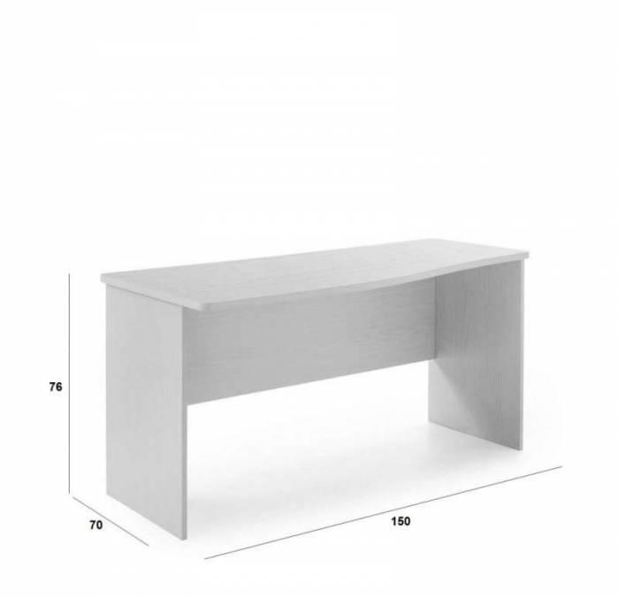 Birou Little, 76x70x150 cm, lemn, alb