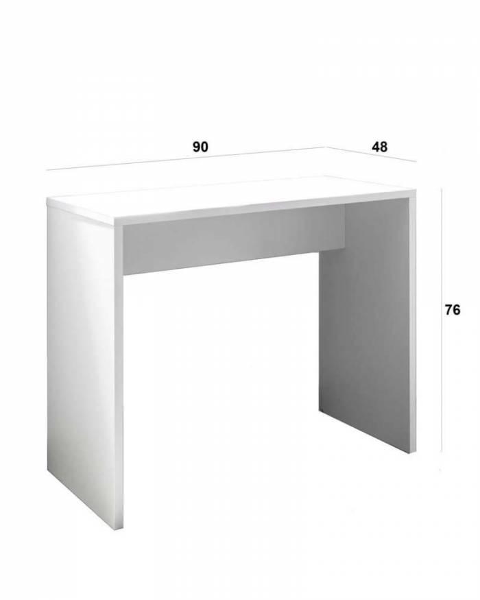 Birou Young, 76x48x90 cm, lemn, alb