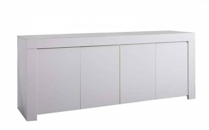 Bufet Panama, 81x42x210 cm, melamină, alb
