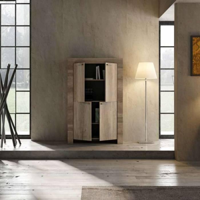 Bufet Sax, 158x43x102 cm, melamină, maro