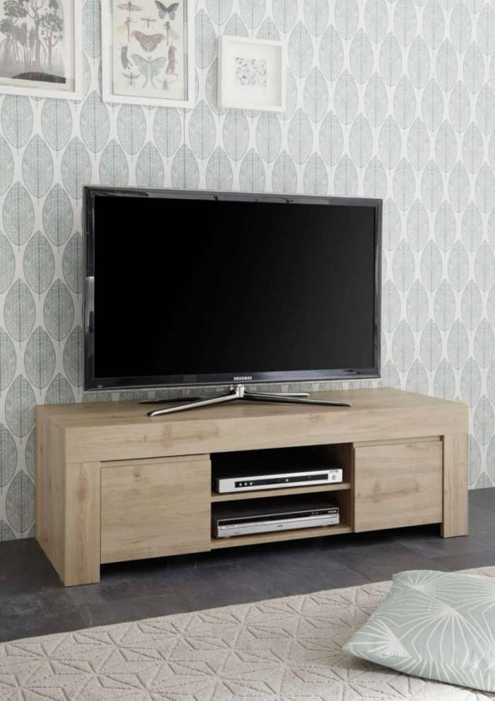 Comodă TV Panama, 44x42x138 cm, melamină, maro