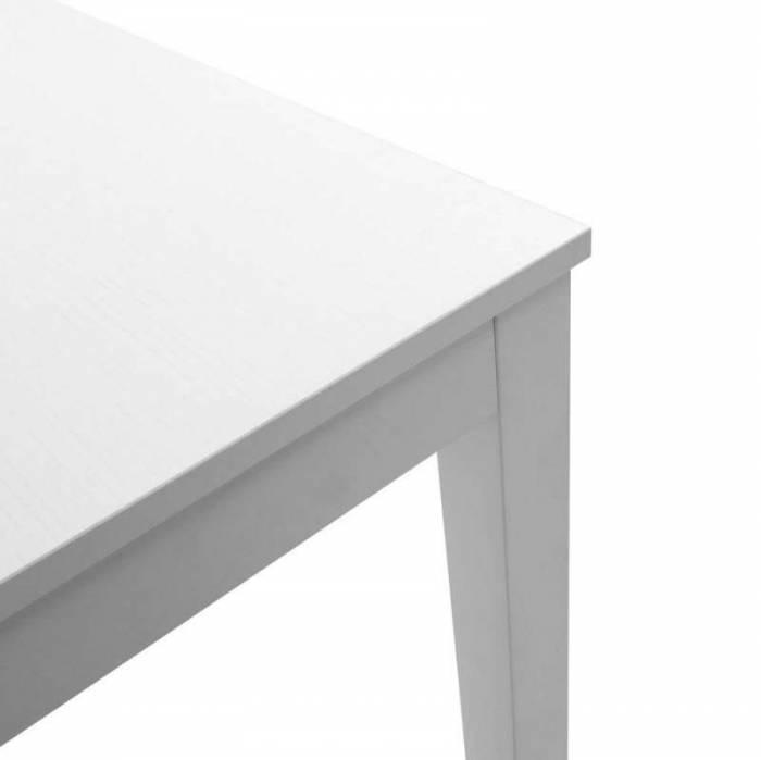 Masă extensibilă Lathi white, 75x80x130/170 cm, melamină, alb