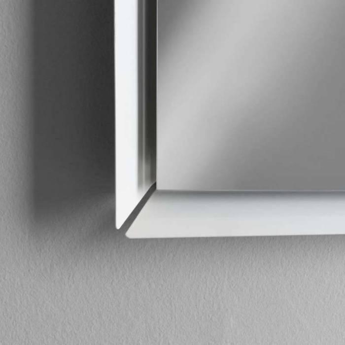 Oglindă cu led Nara, 90x4x70 cm, metal/sticlă, alb