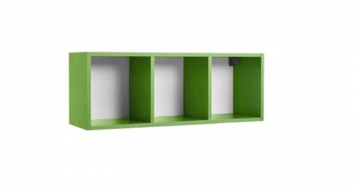 Raft de perete Little, 34x28x92 cm, lemn, verde