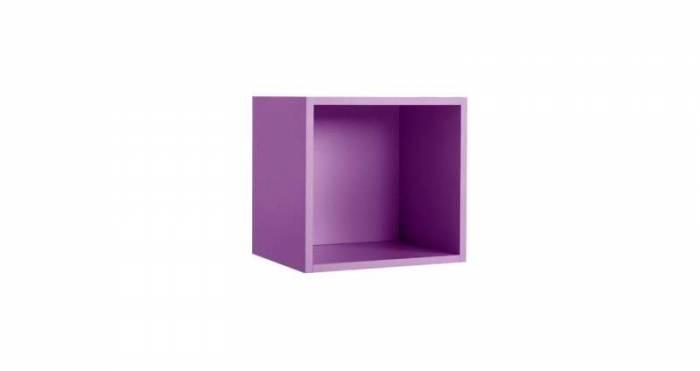 Raft de perete Little, 41x35x43 cm, lemn, violet