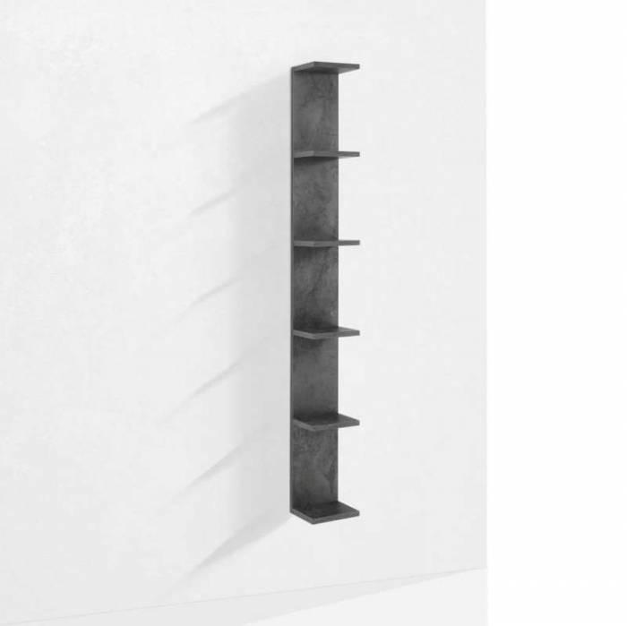 Raft de perete Slim, 160x22x18 cm, melamină, gri