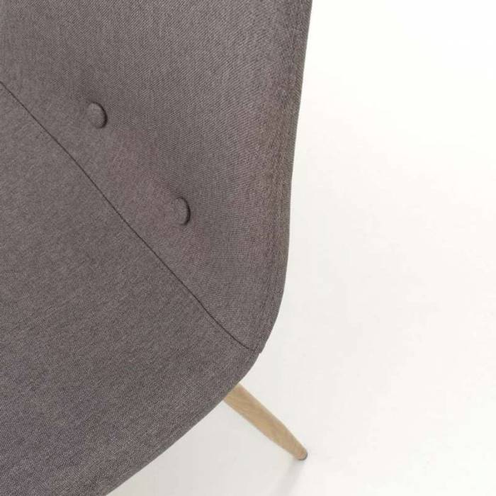 Set 4 scaune de dining Damasco, 88x42x44 cm, metal/textil, gri