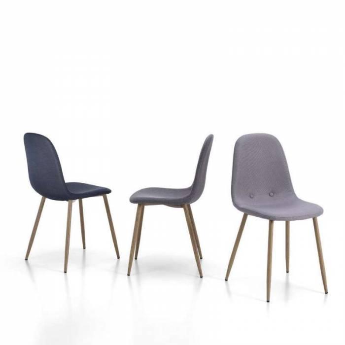 Set 4 scaune de dining Damasco, 88x42x44 cm, metal/textil, verde