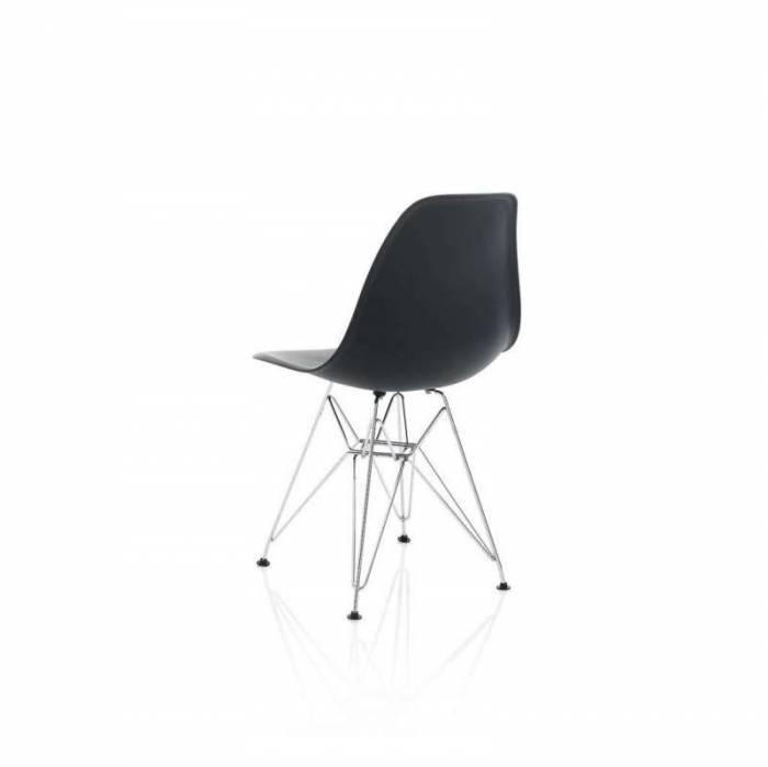 Set de 4 scaune Sintra, 81x48x47 cm, metal/ polipropilenă, negru