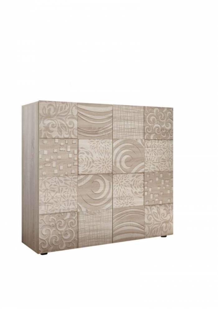 Bufet Brez, 110x42x120 cm, melamină, maro