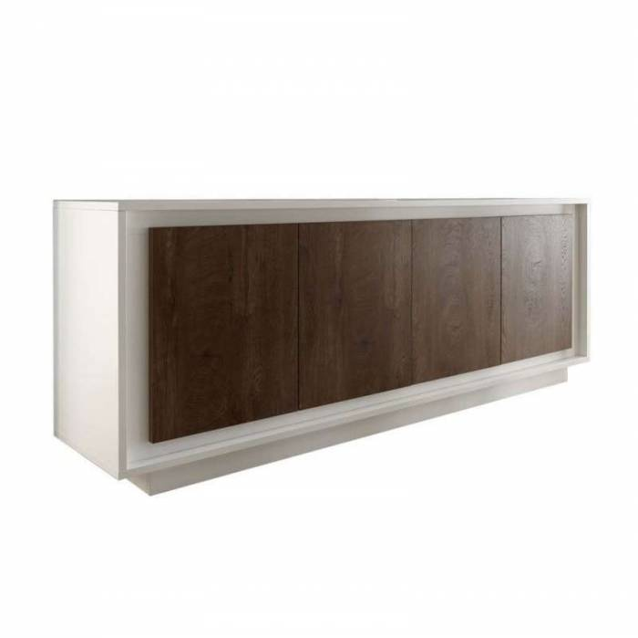 Bufet Frame, 80x50x207 cm, melamină, maro