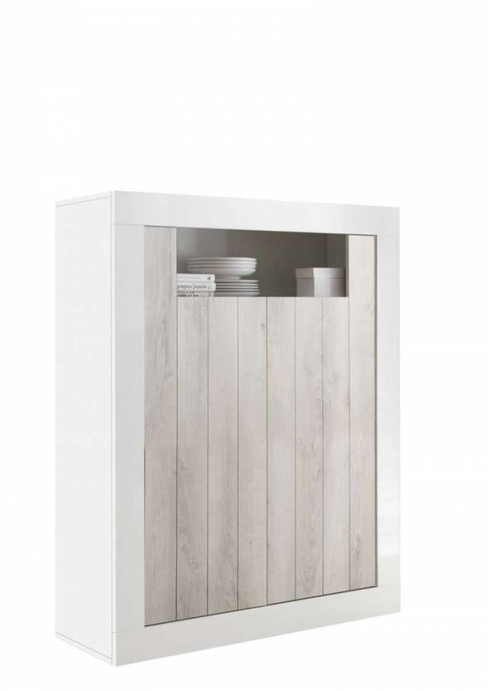 Bufet Lipari, 144x42x110 cm, melamină, alb