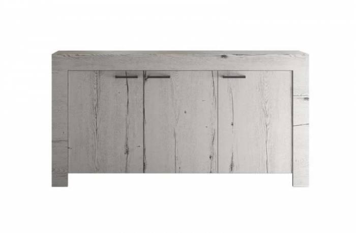 Bufet Sax, 86x43x160 cm, melamină, alb