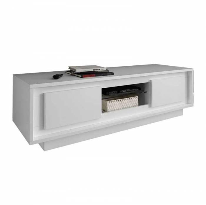 Comodă TV Frame, 45x50x156 cm, melamină, alb