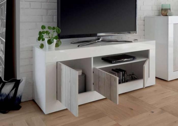 Comodă TV Lipari, 56x42x138 cm, melamină, alb
