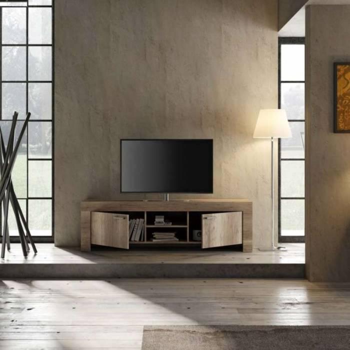 Comodă TV Sax, 53x43x180 cm, melamină, maro