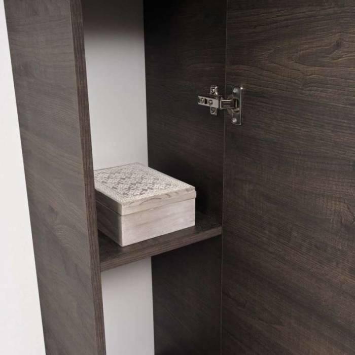 Dulap suspendat Cube, 140x31x29 cm, melamină, maro