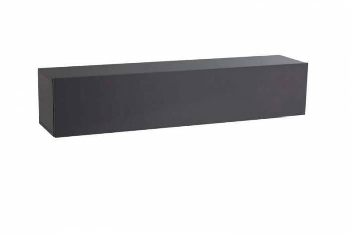 Dulap suspendat Cube, 29x31x140 cm, melamină, gri