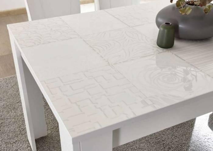 Masă extensibilă Brez, 79x90x137/185 cm, melamină, alb