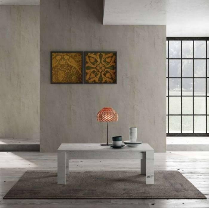 Măsuță de cafea Sax, 45x65x122 cm, melamină, alb